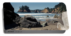 Portable Battery Charger featuring the photograph Trinidad Beach by Sharon Elliott