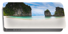 White Sandy Beach In Thailand Portable Battery Charger