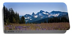 Wildflowers In The Cascades Portable Battery Charger