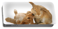 Rabbit And Puppy Portable Battery Charger