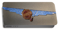 Portable Battery Charger featuring the photograph 1937 Chrysler Airflow Emblem by Gordon Dean II