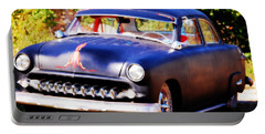 Portable Battery Charger featuring the photograph 1950 Ford  Vintage by Peggy Franz