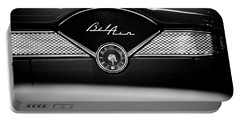 1955 Chevy Bel Air Glow Compartment In Black And White Portable Battery Charger