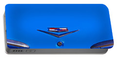 1960 Chevy Bel Air Trunk Emblem Portable Battery Charger by Bill Owen