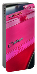 1970 Dodge Challenger Rt 440 Six Pack - Tickled Pink Portable Battery Charger