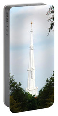 Portable Battery Charger featuring the photograph 1st Christian Steeple by Kay Lovingood