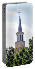 Portable Battery Charger featuring the photograph 1st Presbyterian Steeple by Kay Lovingood