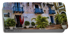 Colonial Buildings In Old Cartagena Colombia Portable Battery Charger