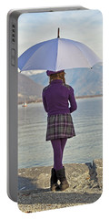 Girl With Umbrella Portable Battery Charger