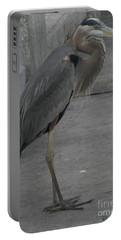 Great Blue Heron Portable Battery Charger by Donna Brown