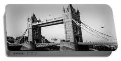 Helicopter At Tower Bridge Portable Battery Charger by Dawn OConnor