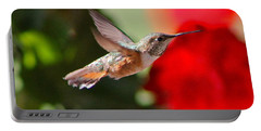 Hummingbird 3 Portable Battery Charger by Pamela Walrath