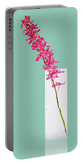 Red Orchid Bunch Portable Battery Charger by Atiketta Sangasaeng