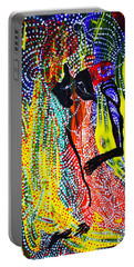 Portable Battery Charger featuring the painting Jesus And Mary by Gloria Ssali