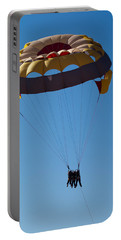 Portable Battery Charger featuring the photograph 3 People Para-sailing Pachmarhi by Ashish Agarwal