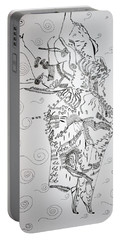 Portable Battery Charger featuring the drawing Kiganda Dance - Uganda by Gloria Ssali