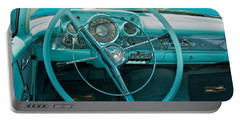 57 Chevy Bel Air Interior 2 Portable Battery Charger