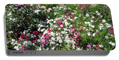 A Bed Of Beautiful Different Color Flowers Portable Battery Charger by Ashish Agarwal