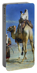 A Bedoueen Family In Wady Mousa Syrian Desert Portable Battery Charger