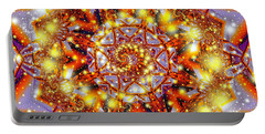 Portable Battery Charger featuring the digital art A Blaze Of Glory by Mario Carini