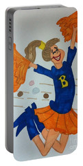 A Cheerful Cheerleader Portable Battery Charger