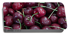 Portable Battery Charger featuring the photograph A Cherry Bunch by Sherry Hallemeier