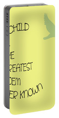 A Child Is The Greatest Poem Ever Known Portable Battery Charger