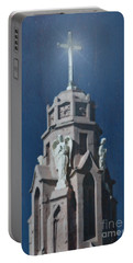 A Church Tower Portable Battery Charger