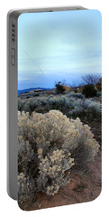 A Desert View After Sunset Portable Battery Charger