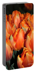 A Field Of Orange Tulips Portable Battery Charger by Eva Kaufman