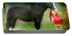 Portable Battery Charger featuring the photograph A Girl And Her Horse by Davandra Cribbie
