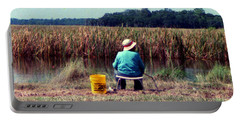 Portable Battery Charger featuring the photograph A Great Day Fishing by Patricia Greer