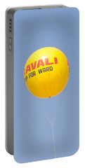 Portable Battery Charger featuring the photograph A Hot Air Balloon In The Blue Sky by Ashish Agarwal
