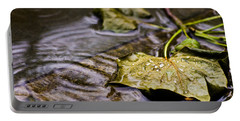 A Leaf In The Rain Portable Battery Charger