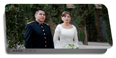 Portable Battery Charger featuring the photograph A Military Wedding by Lorraine Devon Wilke