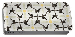Portable Battery Charger featuring the digital art A Monkey Scene by Phil Perkins