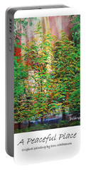 A Peaceful Place Poster Portable Battery Charger