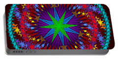 Portable Battery Charger featuring the digital art A Riot Of Stars by Mario Carini
