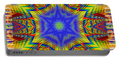 Portable Battery Charger featuring the digital art A Star Reborn by Mario Carini