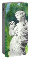 Portable Battery Charger featuring the painting A Statue At The Wellers Carriage House -2 by Yoshiko Mishina