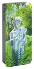 Portable Battery Charger featuring the painting A Statue At The Wellers Carriage House -4 by Yoshiko Mishina