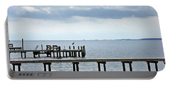 A Stormy Day On The Pamlico River Portable Battery Charger