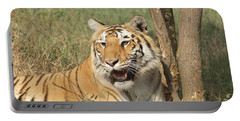 A Tiger Lying Casually But Fully Alert Portable Battery Charger