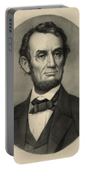 Portable Battery Charger featuring the photograph Abraham Lincoln Portrait by International  Images