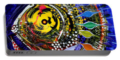 Abstract Busy Bee Fish Portable Battery Charger