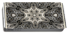 Portable Battery Charger featuring the digital art Abstract Cubes by Susan Leggett