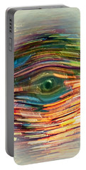 Portable Battery Charger featuring the digital art Abstract Eye by Susan Leggett