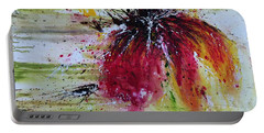 Abstract  Flower Portable Battery Charger by Ismeta Gruenwald