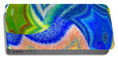 Portable Battery Charger featuring the digital art Abstract Fusion 155 by Will Borden