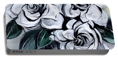 Abstract Gardenias Portable Battery Charger